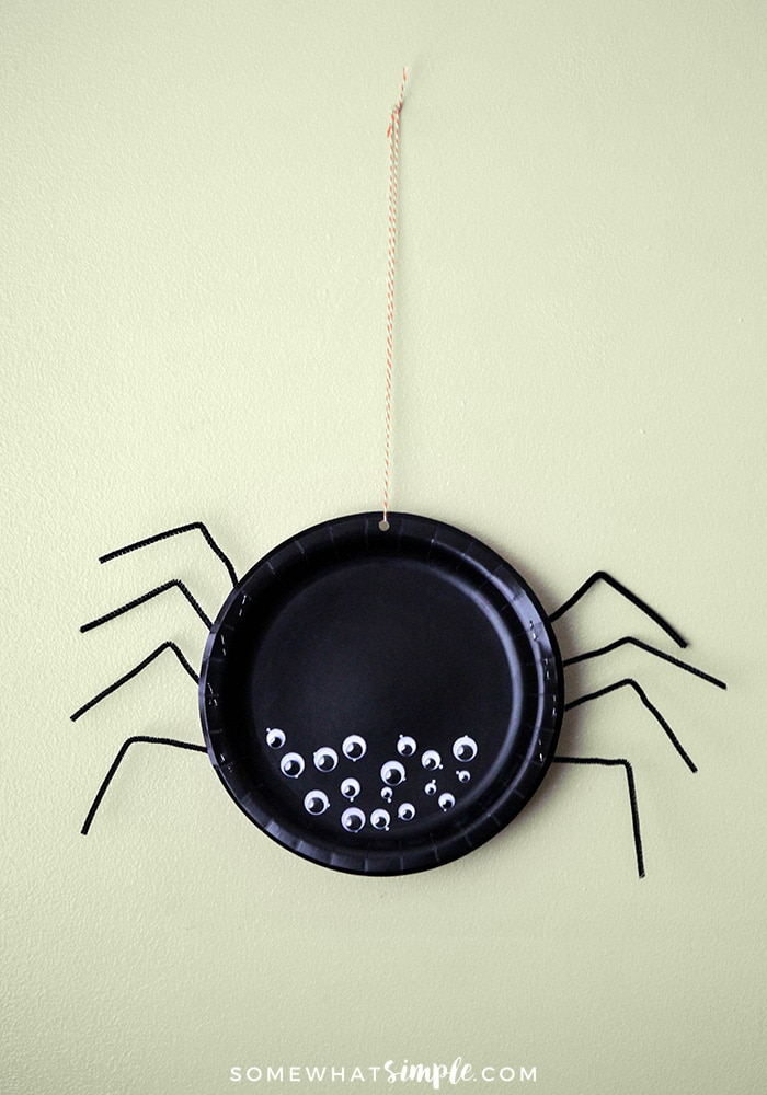 a plate craft that looks like a spider