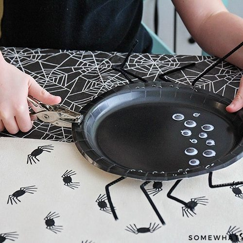 Itsy Bitsy Spider plate craft