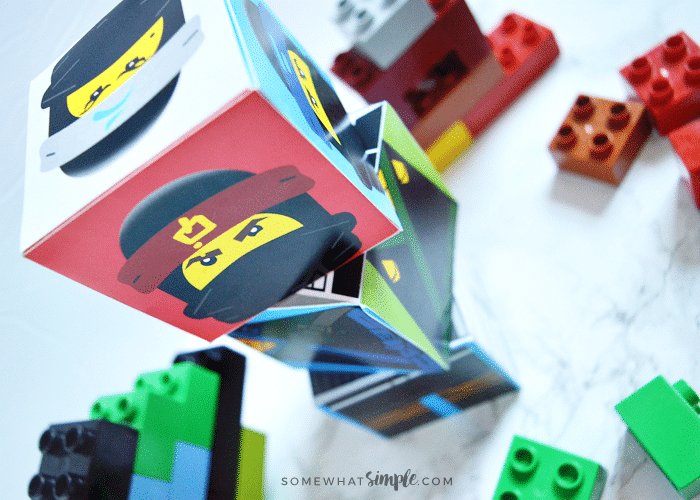 Lego Ninjago Movie Mix n' Match Cubes Printables