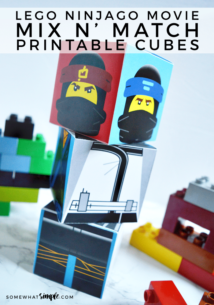 Calling all Lego NINJAGO fans! Download our Lego Ninjago Mix n' Match Cubes Printables and start building! Kids will love mixing and matching characters!