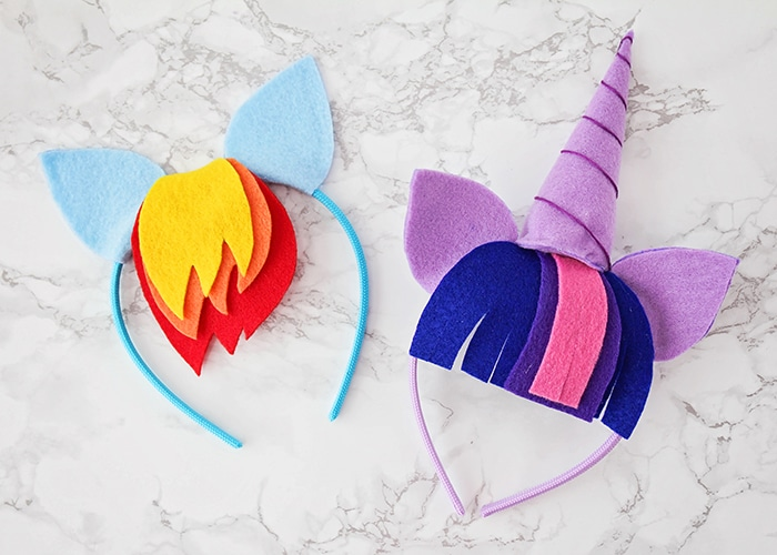 These no-sew My Little Pony headbands are so adorable and so easy to make! They're perfect for all the pony lovers in your life!