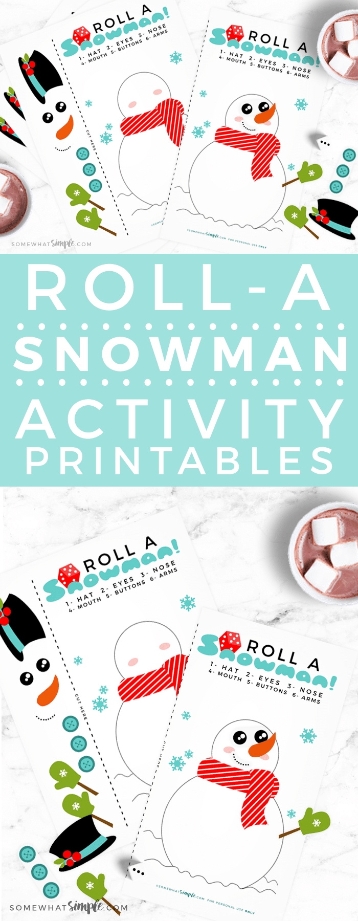 Get ready for a night of family fun this holiday season! This snowman dice game can't get any easier to prepare and play.