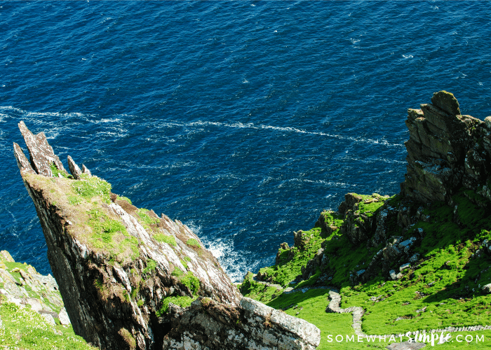 skellig Michael view from the top