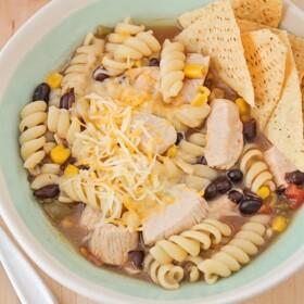 Southwest Chicken Noodle Soup