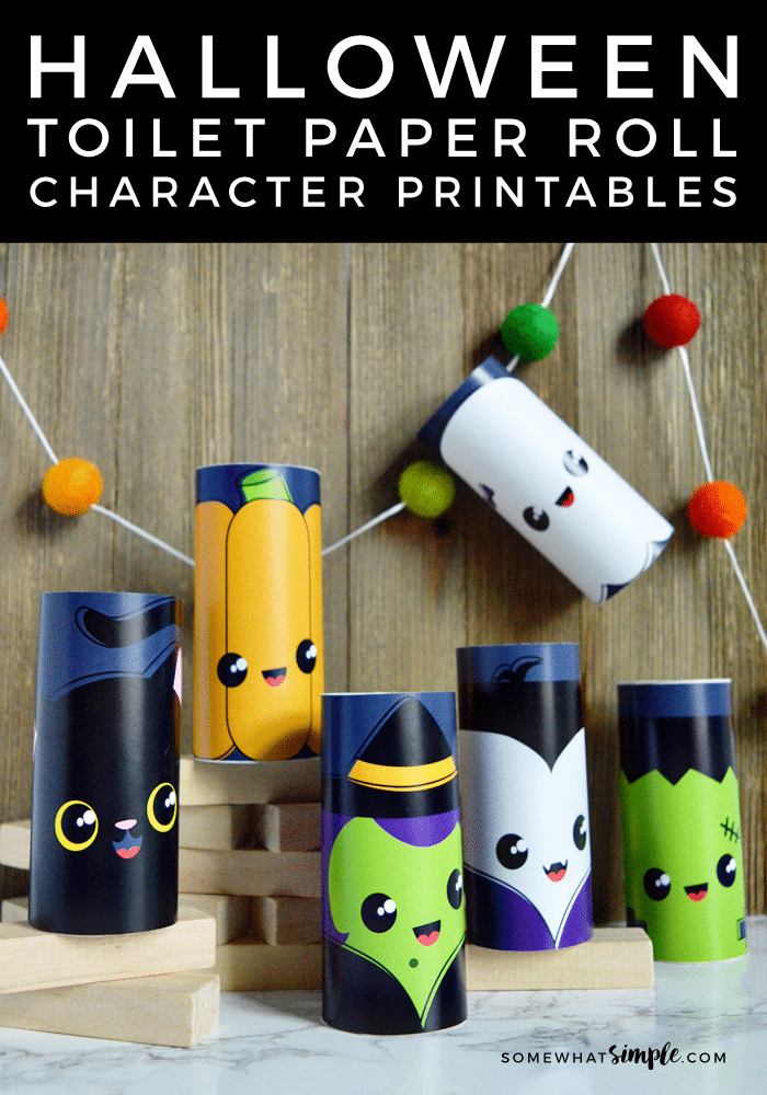 Kids are going to love having these darling Halloween Toilet Paper Roll Characters they can make, and then play with!