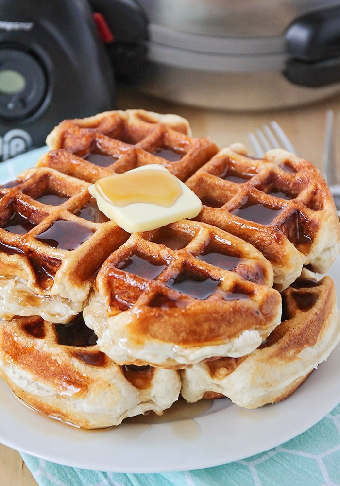 Unleash the waffle within. This is a pretty perfect go-to recipe that's easy to throw together when an irresistible desire for waffles strikes you.