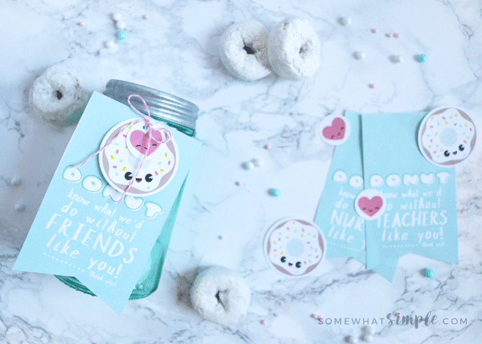 Thanks You Gift Ideas Donut Thank You Tags Somewhat Simple