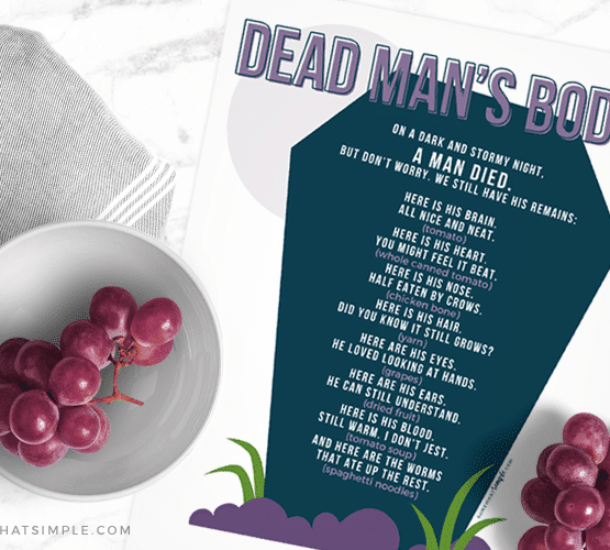 dead mans body poem printed on white paper with a bowl of grapes by its side