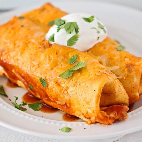 Red Chicken Easy Enchiladas