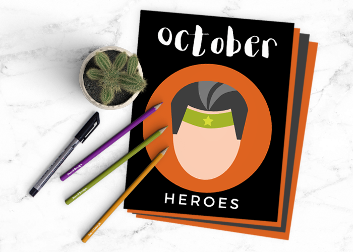 This Month's Creative Journal Pages – October 2017