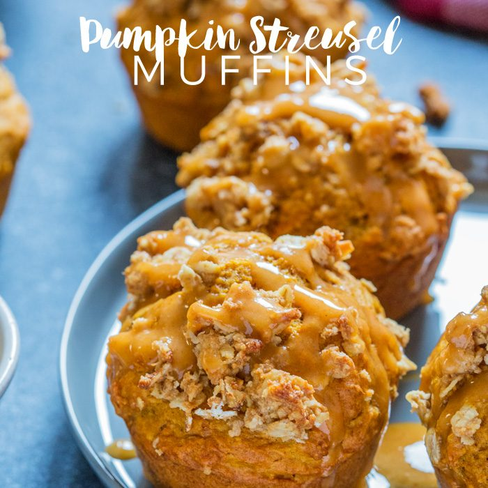 There's nothing better to wake up to than an earthy, spicy and soft homemade Pumpkin Streusel Muffin; the perfect breakfast or afternoon snack for Fall!