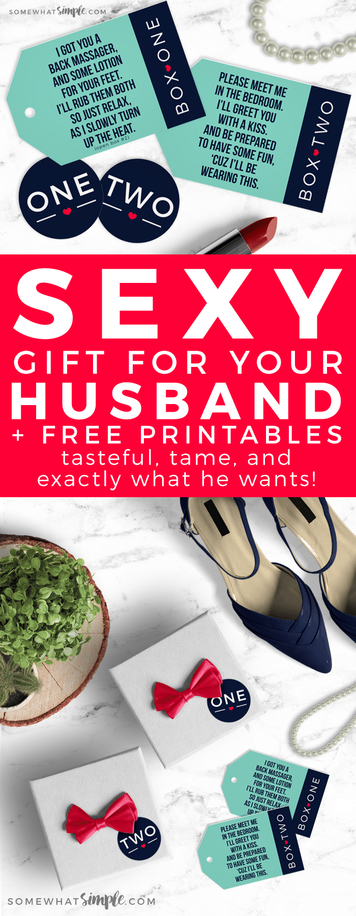 Sexy Gift for Your Husband - This sexy gift for your husband is perfect for any occasion and he's sure to love it! #FreePrintables