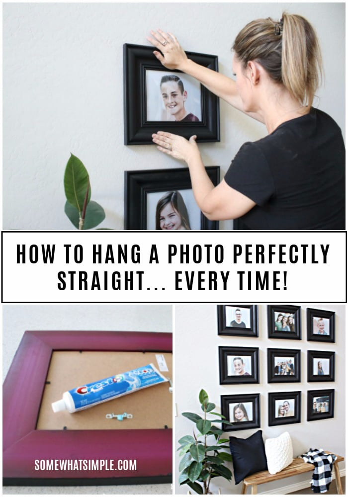 step by step on how to hang a picture collage
