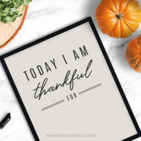 today I am thankful for free printable