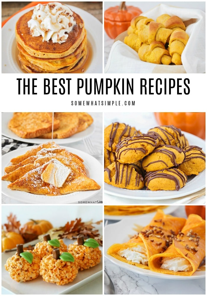 'Tis the season for pumpkin spice and everything nice! Here are 30 recipes for fall food and drinks!  via @somewhatsimple