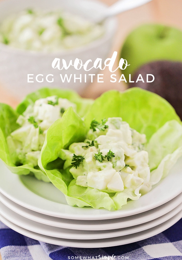 Are you looking for a delicious twist on a classic egg salad recipe? This avocado egg salad is fresh, easy to make and super delicious! #avocadoeggsalad #healthyavocadorecipes #avocadoeggsaladnomayo #avocadoeggsaladrecipe #easyavocadoeggsalad via @somewhatsimple