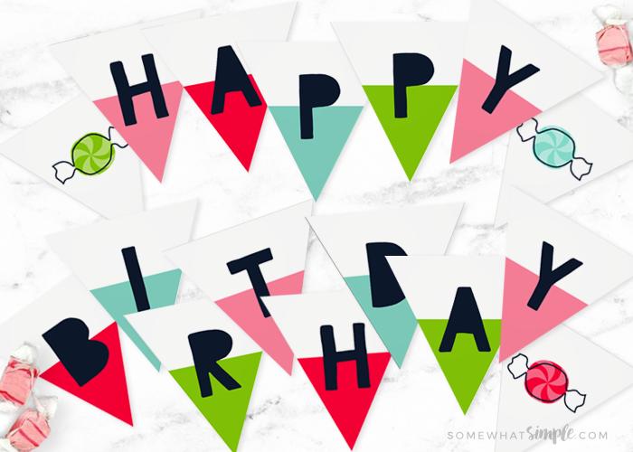 Happy Birthday Sign – Printable Banner