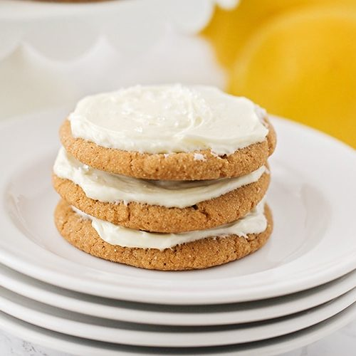 Lemon Cream Ginger Cookies Recipe