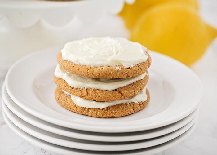 Ginger Cookies Recipe with Lemon Cream