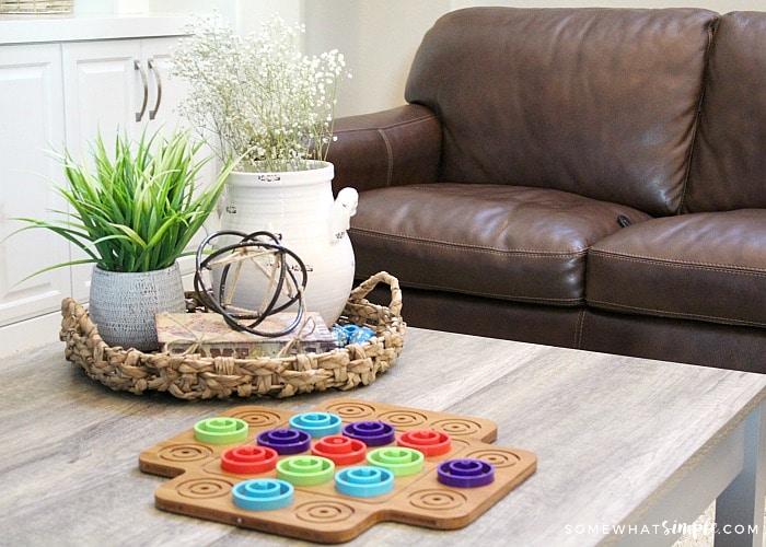Board Game Coffee Table Decor