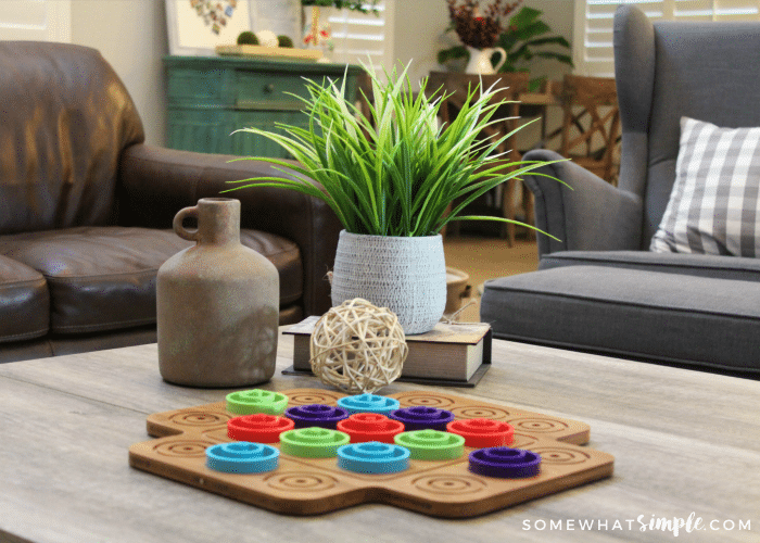 Colorful Coffee Table Decor