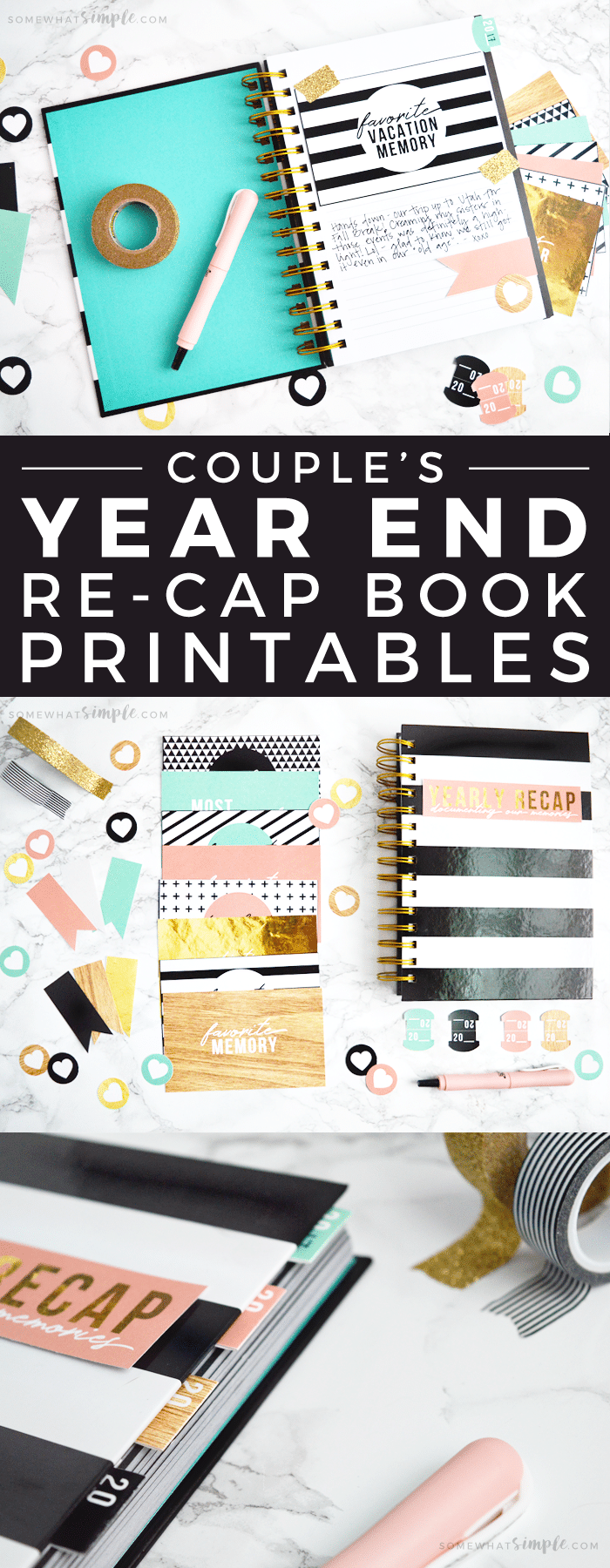 Our Couple's Memory Book + Year in Review Printables make documenting each year with your loved one fun and meaningful!