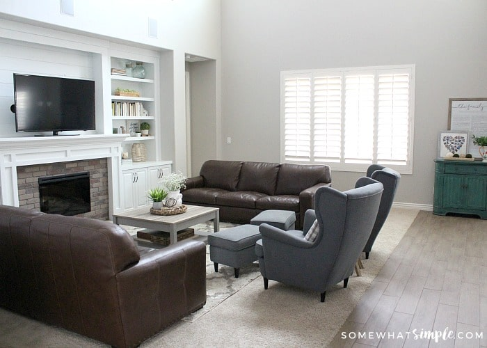 simple family room. Family Room  Before and After Somewhat Simple