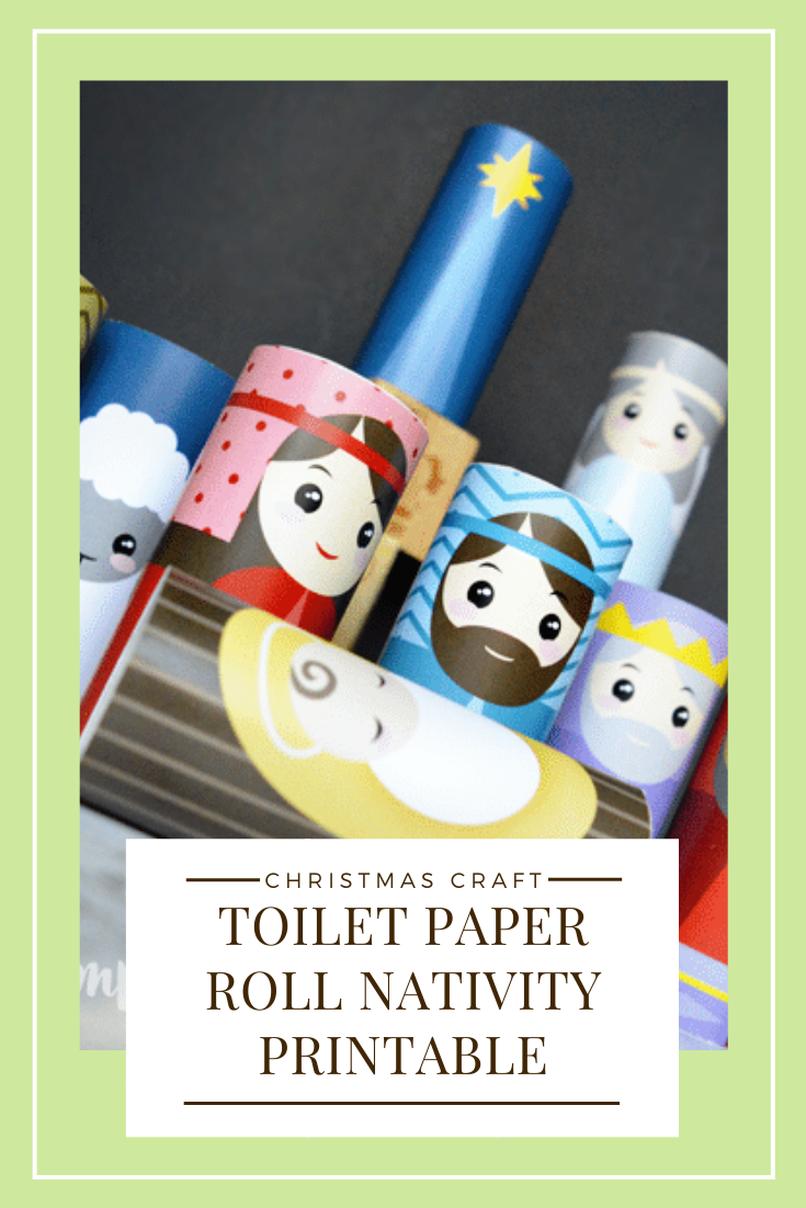 The kids will love creating this Toilet Paper Roll Nativity craft! Such a simple, fun, and darling way to display the Christmas Nativity! This Christmas craft is really easy to put together and perfect for the kids to play with during the holiday season. via @somewhatsimple