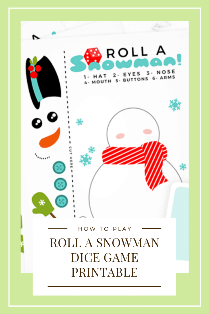 This roll a snowman dice game is the perfect game to play during the holidays. This printable game is perfect for players of all ages! #rollasnowman #rollasnowmandicegame #rollasnowmangame #rollasnowmandicegameprintable #howtoplayrollasnowman via @somewhatsimple