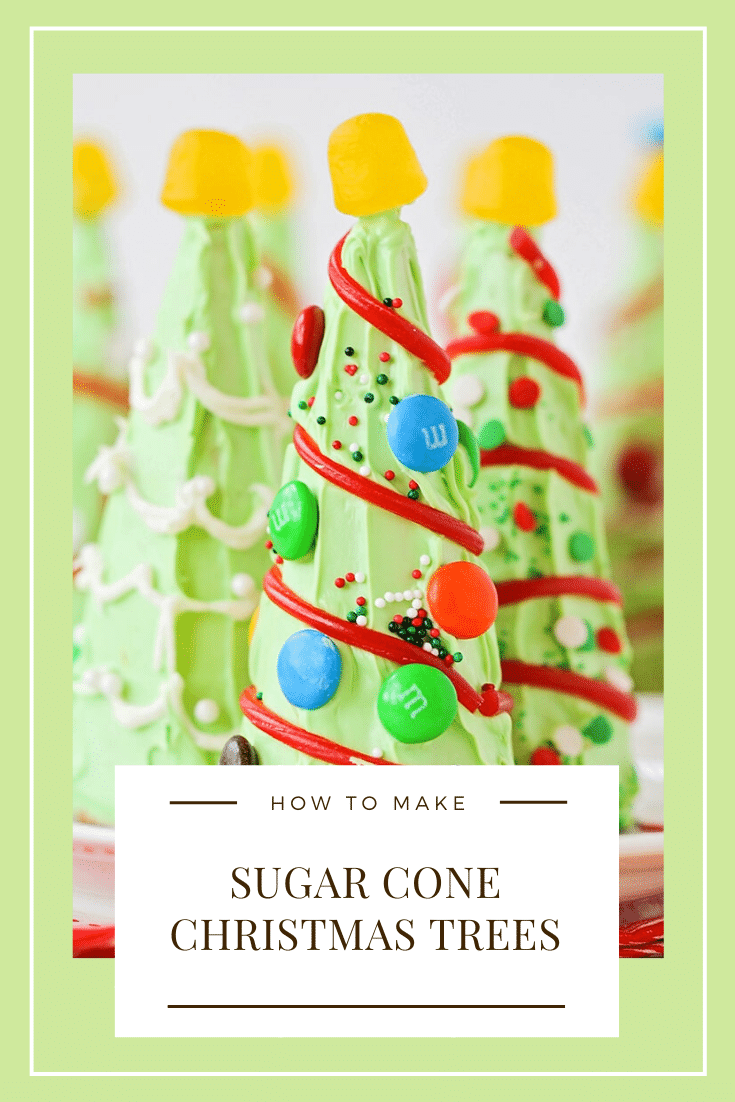 Sugar Cone Christmas Trees From Somewhat Simple