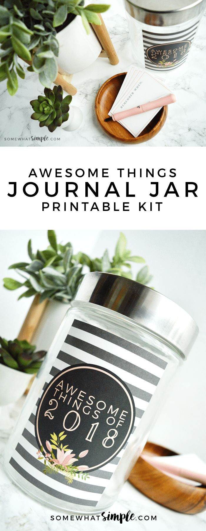 Hang on to your hats, we've put together our 2017 Journal Jar Kit with a label + journaling cards! (And they turned out darling!)