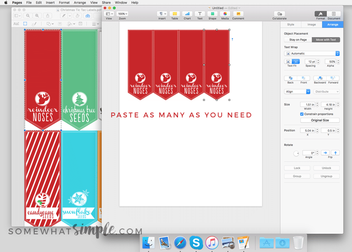 how to edit a pdf printing individual tic tac labels somewhat simple