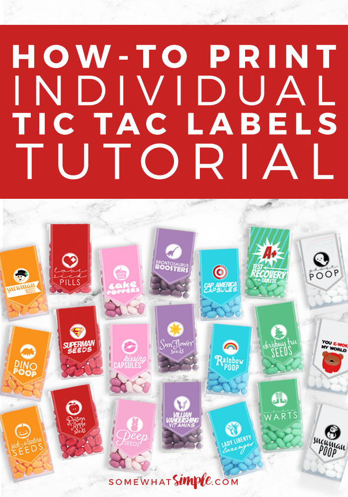 Love our Tic Tac Labels, but only want to print off one or two? We'll walk you through the steps to help you with Printing Individual Tic Tac Labels !