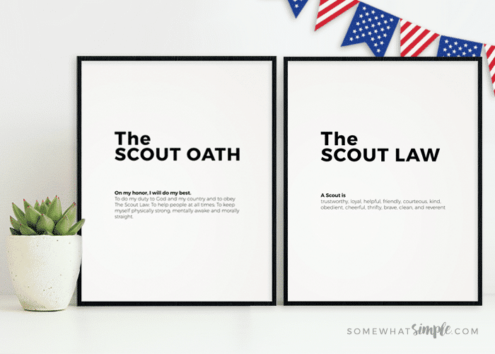 photograph regarding Scout Law Printable referred to as Boy Scout Oath and Legislation Printables - To some degree Very simple