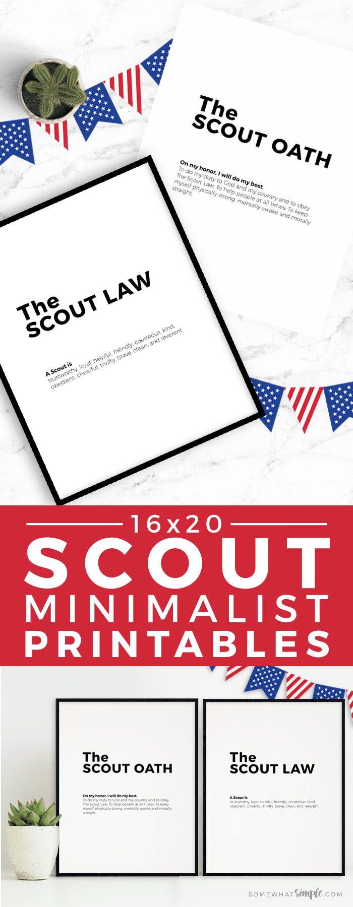 Our minimalistBoy Scout Oath and Law Printables will make the perfect accessory to your next court of honor or pack meeting! #boyscouts #printable #courtofhonor #cubscouts #scout