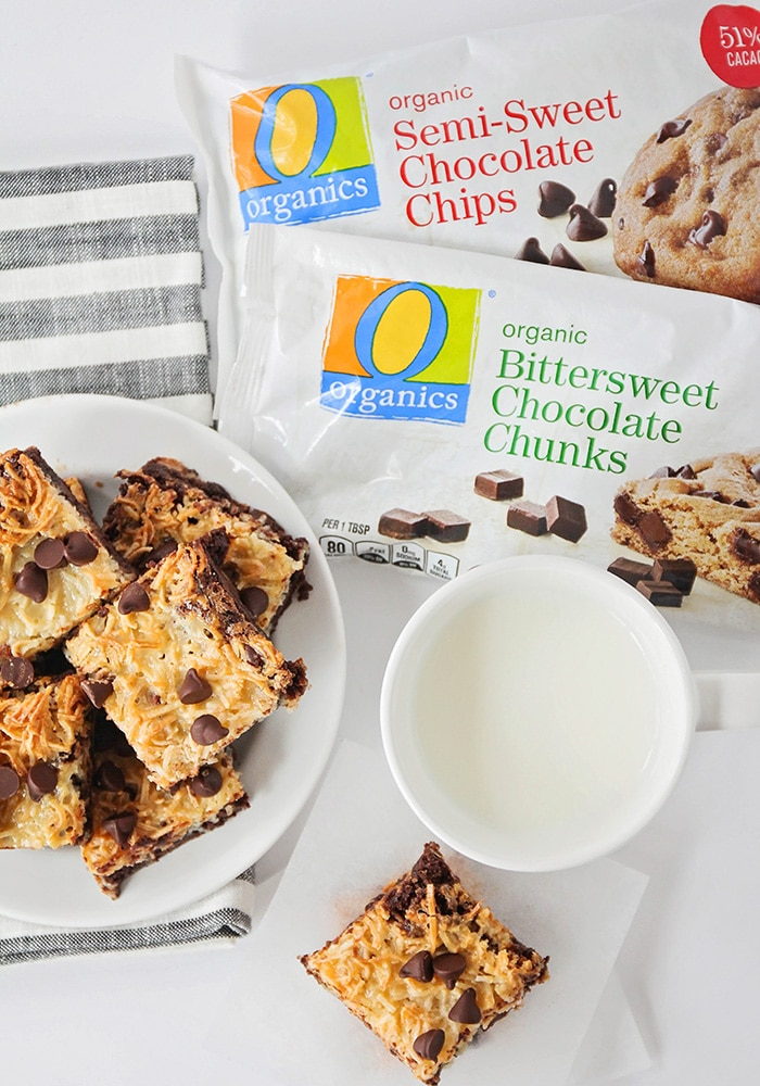 These easy to make one-bowl toasted coconut dark chocolate brownies are so indulgent and delicious! They're the perfect contrast of flavors and textures!