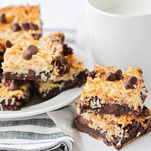 Toasted Coconut Dark Chocolate Brownies