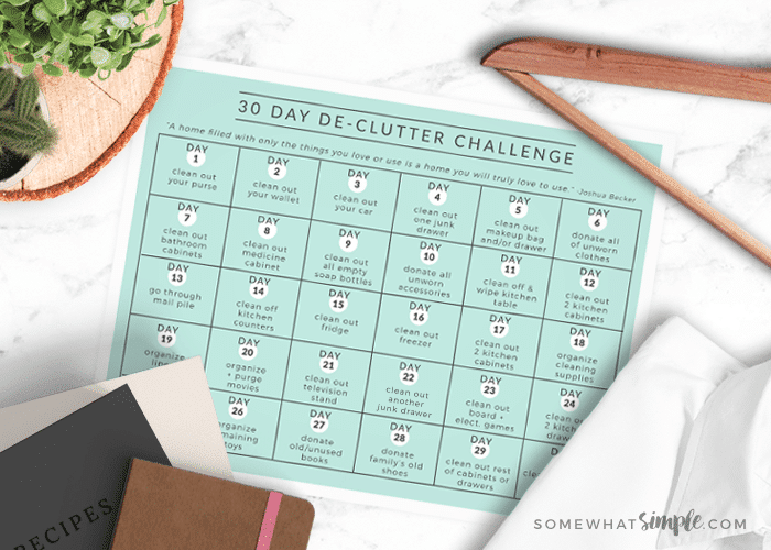 30 day declutter challenge printable main