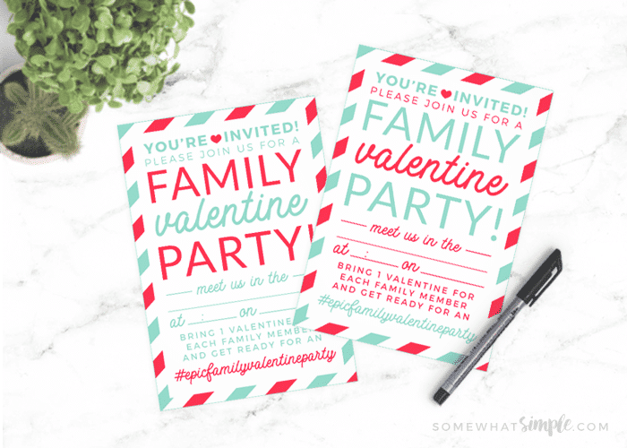 Family Valentines Day Ideas Printables Somewhat Simple