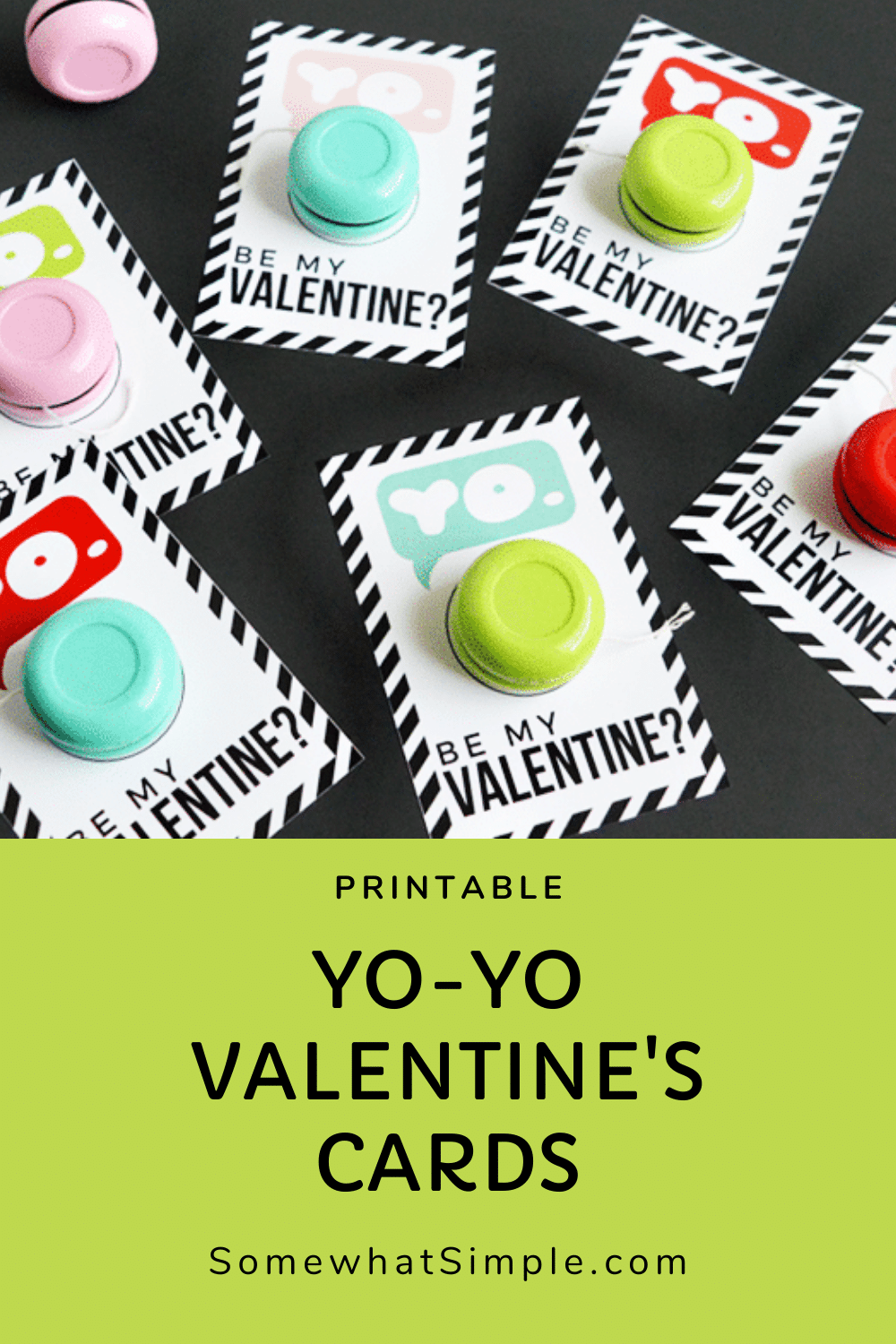 We're all about keeping things cute + simple around here, and theseYo-Yo Valentines Printables do just that! The Valentine's Day printable cards are perfect and unique and the kids will absolutely love them. If you want to skip the candy this year and do something fun, these cards are exactly what you're looking for. via @somewhatsimple
