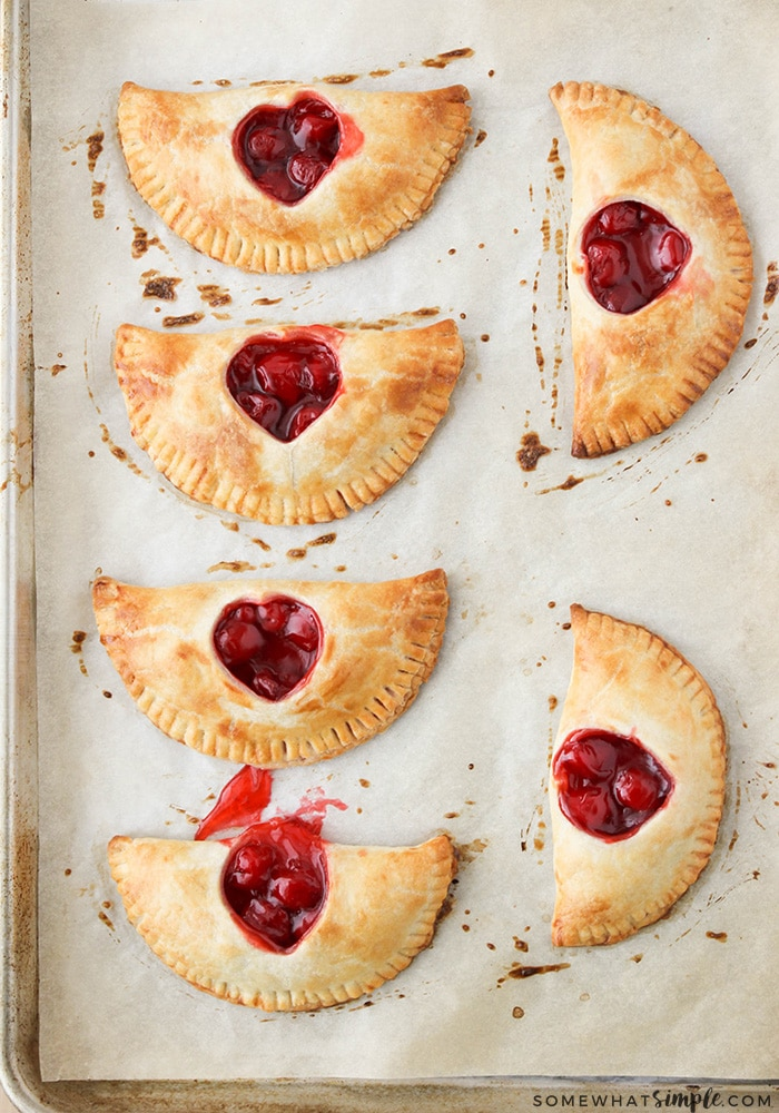 These sweet and adorable cherry hand pies are the perfect treat to share with someone you love. They're easy to make and so delicious!