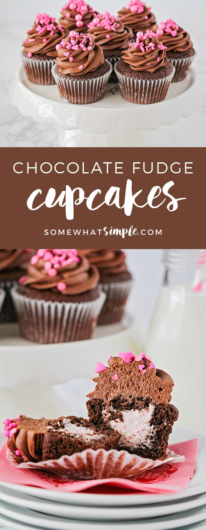 These delicious chocolate fudge cupcakes just might change the way you make cupcakes forever!!!