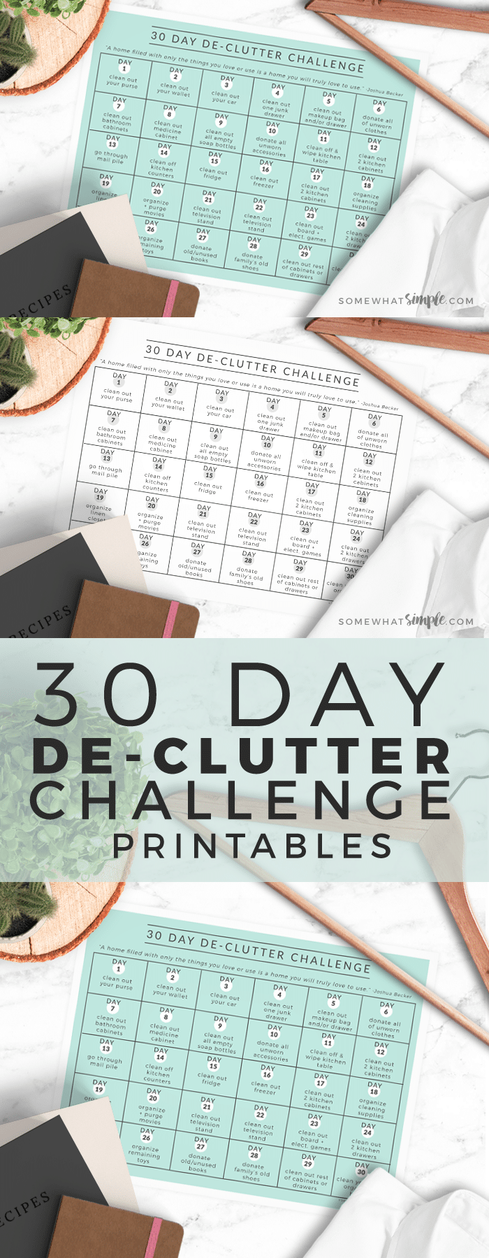 Feeling overwhelmed by 'stuff'?! We'll show you how easy it is to take back your home with our 30 Day Declutter Challenge!