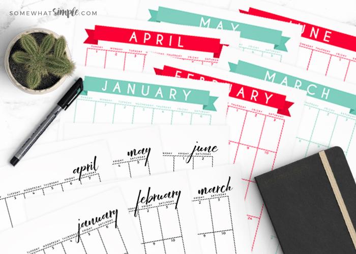 Free Printable Calendar – 2018 Calendar Template