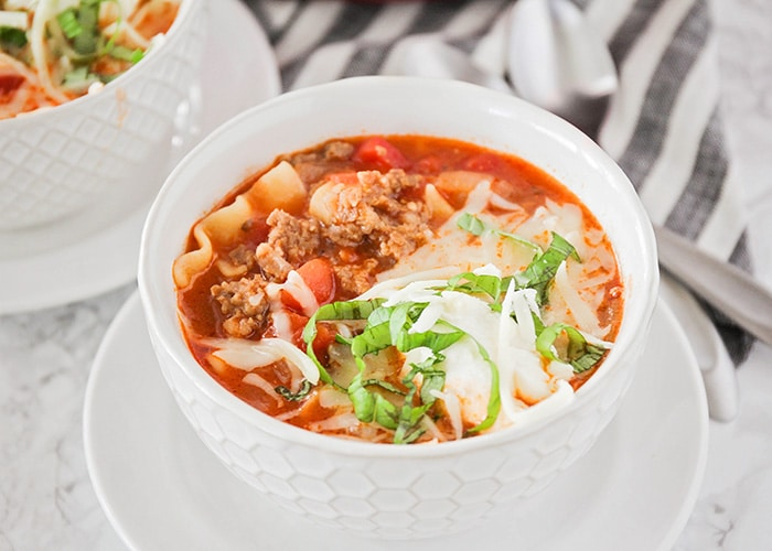 Lasagna Soup – Cheesy and Hearty
