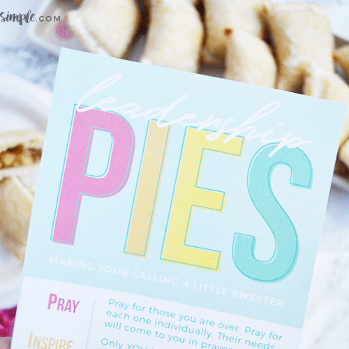 Printable Handout For Leadership Training: Leadership Pies!