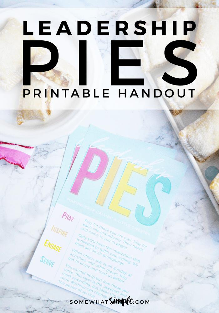 Printable Handout For Leaders: Leadership Pies