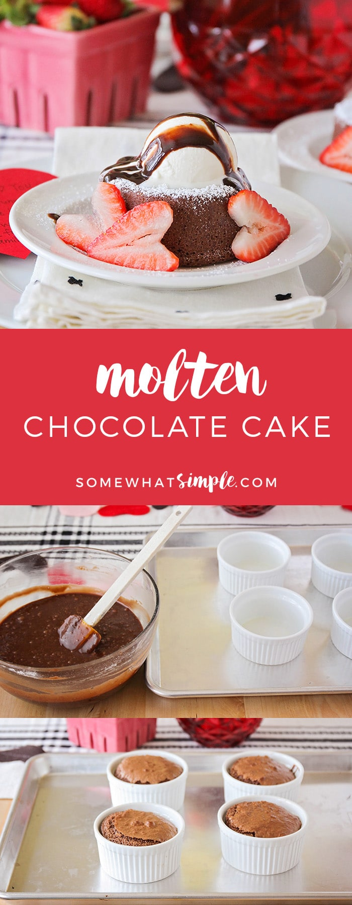 Planning a romantic dessert date night is so easy and fun! Elegant decorations and a luscious molten chocolate lava cake recipe will make it a night to remember.