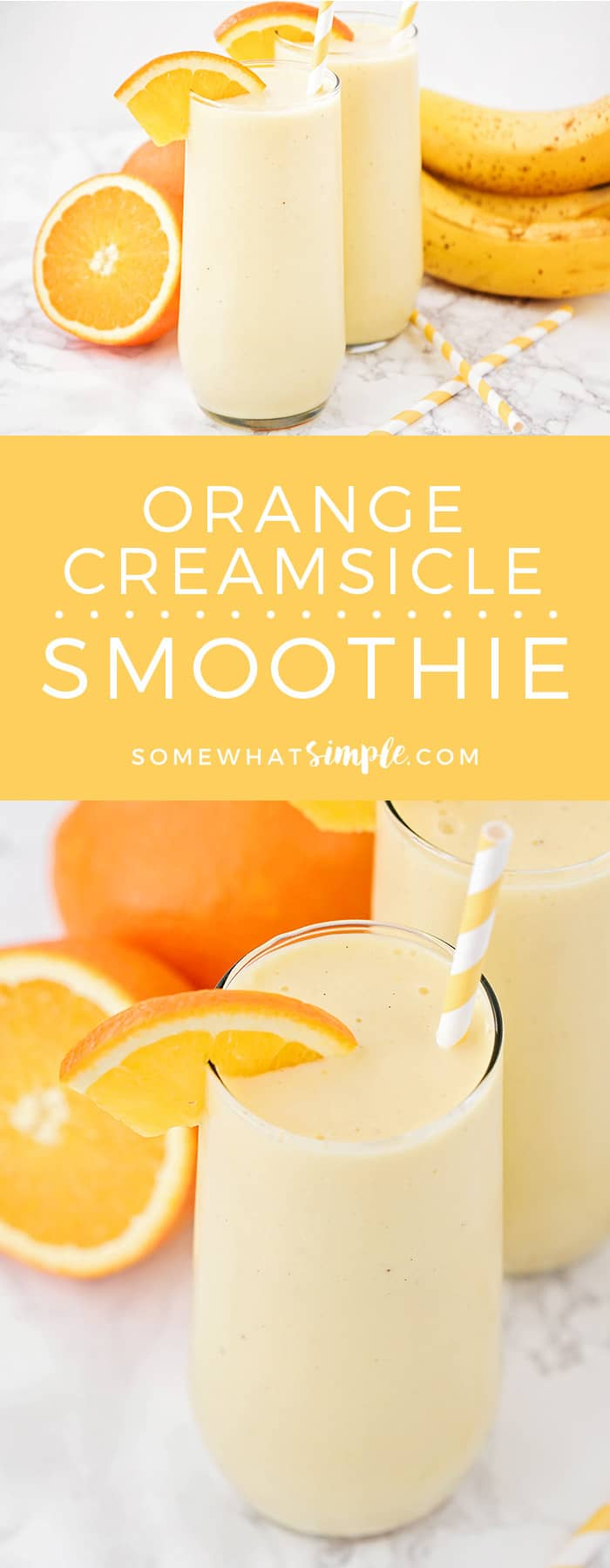 This sweet and refreshing orange creamsicle smoothie is perfect for an easy breakfast or afternoon snack! A healthy version of your favorite orange creamsicle drink - it is so flavorful, and totally delicious!