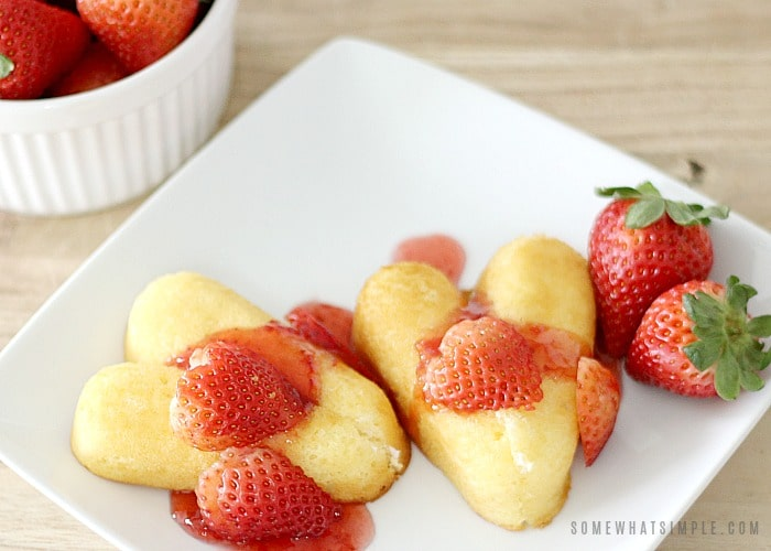 Valentines Day dessert for kids - heart shaped Twinkies